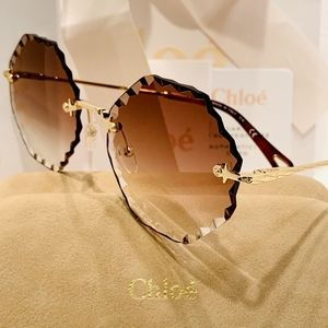 """Chloe """"Rosie"""" Sunglass Style CE143S in Gold"""